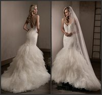Wholesale Counted Cross - Criss Cross Back Sexy Dresses For Wedding Cheap Lace Beading Pearl Major Beading Backless Count Trian Mermaid Formal Bridal Gown Fashion