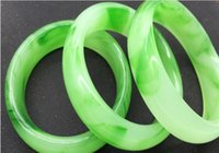 Wholesale Cheapest Priced Jewelry Wholesale - Manufacturers wholesale! Jewelry Natural Green jade Bracelets Arts and crafts! Cheapest price! Fast Shipping!!!54MM-64MM 12Pcs lot