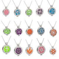 """Wholesale Aroma Therapy - Premium Aroma therapy Essential Oil Diffuser Necklace Locket Pendant, 316L Stainless Steel fashion Jewelry with 24""""Chain and 5 Washable Pads"""
