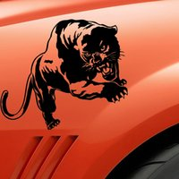 black panther cartoon - CM Wild Panther Hunting Large Animal Car Body Decal Car Stickers Motorcycle Decorations