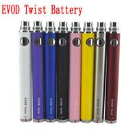batería evv twist twist al por mayor-Ego evod twist battey batería de voltaje variable e cigarrillo 510 batería de hilo 650mAh / 900mah / 01100mah para vaporizador vape pen MT3 / CE4 / protank