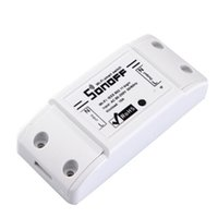 Wholesale App Controlled - sonoff dc220v Remote Control Wifi Switch Smart Home automation  Intelligent WiFi Center for APP Smart Home Controls