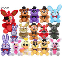 Wholesale 25cm Golden Freddy Fazbear Mangle bonnie foxy Stuffed Doll Toys Sister Location fnaf plush toy Five Nights At Freddys plush