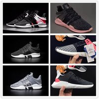 Wholesale Soccer Shoes Gs - EQT Support ADV GS Primeknit Running Shoes Men Women 2017 High Quality Black White Pink walking shoes Sneaker Size: 5-10