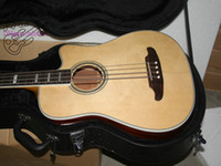 Wholesale acoustic electric guitar free for sale - Group buy New Arrival and retail Acoustic BASS Acoustic Electric BASS Guitar in Nature Color