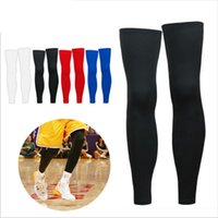 Wholesale Thigh Calf Compression - Wholesale- 1PCS Super Elastic Lycra Basketball Knee Pad Support Brace Football Leg Calf Thigh Compression Sleeve Sports Safety HX001