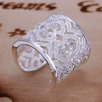 Wholesale American Heart Hoops - 2017 hot sale XMAS wholesale fashion 925 sterling silver jewelry ring ,New fine 925 silver charm ring for women CR106
