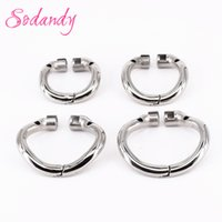 Wholesale Male Stainless Steel Curved - SODANDY Arc Chastity Base Ring Stainless Steel Curved Penis Ring For Male Chastity Device In Our Shop Cock Cage Penisring Cockring