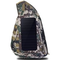 Wholesale Backpack Solar Panel - Solar panel backpack Sunlight energy day pack Single strape power school bag Riding rucksack Trip schoolbag Outdoor daypack