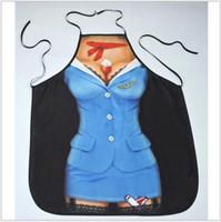 presente engraçado do natal avental venda por atacado-Moda dos desenhos animados impressão avental avental engraçado sexy girl girl início bonito aventais 60 * 73 cm presente de casamento presente de natal avental