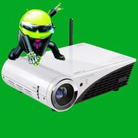 ingrosso dlp costruito proiettore wifi 3d-Proiettore DLP Full HD integrato Proiettore Win10 1280 * 800 HD 3D e proiettore Home Theatre Daytime Usato WiFi integrato
