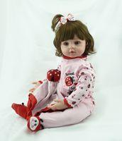 Wholesale Cheap Full Silicone Dolls - 55cm  cheap dollar Victoria adora Lifelike newborn Baby Bonecas Bebe kid toy girl full silicone reborn baby dolls