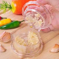 Wholesale Garlic Crusher Peeler Spice Mincer - Free Shipping Garlic Crusher Peeler Spice Mincer Stirrer Presser Slicer Ginger Clear Kitchen Tool Us