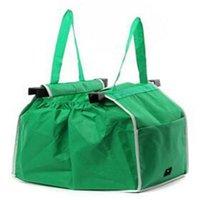 Wholesale Cheapest Wholesale Handbags - Wholesale- Folding Eco Shopping Reusable Travel Bag Green Pouch Multifunction Tote Handbag Cheapest