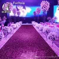 decorações da libélula para casamentos venda por atacado-1 m de largura X 10 M de luxo Pearlescent casamento tapete brilhante corredor corredor T estação tapete para decoração de festa fornece muitas cores
