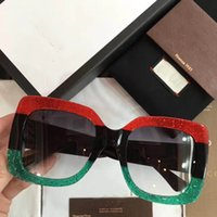 Wholesale Uv Coloured Sunglasses - 0083S Popular Sunglasses Luxury Women Brand Designer Square three colour Full Frame Top Quality UV Protection Mixed Color Come With box