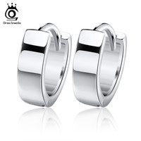Wholesale Hoop Silver Small - Orsa Jewelry Small Hoop Earring,925 Sterling Silver with 3 Layer Platinum Plated,Hot Sale Earring OE03