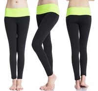 Wholesale 2017 Women Fashion Tight Sportwear Nice Leggings High Elastic Thin Sports Yoga Pants Fitness Running Long Trousers Legging free shippi