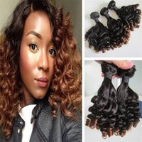 Wholesale Indian Curls - Hot Sale Ombre Funmi Hair Tip Curls 3PCS 100 Virgin Indian Hair Weave for Black Women Free Shipping