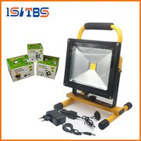 Wholesale Work Light Rechargeable Cordless - LED Rechargeable Floodlight 10W 20W 30W 50W Cordless Rechargeable LED Flood Light Spot Portable LED Work Light Lamps Weather Resistant
