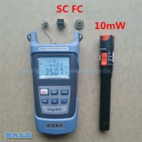 Wholesale Fault Locator - Wholesale- 2 in1 FTTH Fiber Optic Tool Kit Fiber Optical Power Meter -70 + 10dBm and VFL 10mW Visual Fault Locator Fiber optic test pen