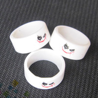 Wholesale Resistance Bands White - Clown Man Silicone Vape Bands Tank Band for Mods Atomizers Rubber Decorative and Protection Resistance Ring White Color DHL Free