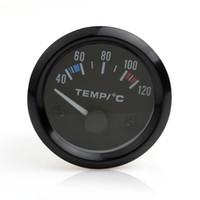 medidor de temperatura led venda por atacado-Brand New Auto Instruments New 2 polegadas 12 V Universal Car Ponteiro Medidor de Temperatura Da Temperatura Da Água 40-120 LED Branco CEC_545