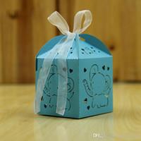 hochzeit schokolade verpackung groihandel-Pralinenschachtel Mini Laser Cut Herz Elefant Kreative Schokolade Geschenk Verpackung Hochzeit Süßigkeiten Fall Party Favors 0 41rh J R