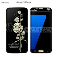 Wholesale Wooden Dragons - 0.1MM 3D Curved PET Full Cover Screen Protector Rose & Chinese Dragon Pattern For Samsung Galaxy S7 S6 Edge 10 Designs Wooden Box