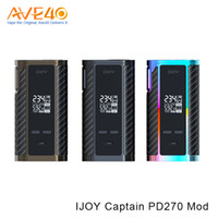 Wholesale amp batteries - Authentic IJOY Captain PD270 Dual 20700 Box Mod 237W With Dual 20700 High-Amp Battery 0.06ohm Resistance VS Arms Race