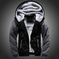 Wholesale Wool Coat Design White - PERWOMAN USA SIZE 2016 Men Winter Autumn Hoodies Blank pattern Fleece Coat Baseball Uniform Sportswear Jacket wool make to order designs