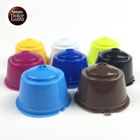 Wholesale Coffee Time - 1pc use 50 times 8 Colors Refillable Dolce Gusto coffee Capsule nescafe dolce gusto reusable capsule dolce gusto capsules