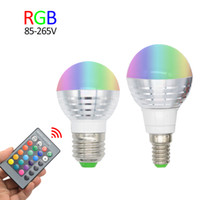 RGB Lampada De LED Spotlight Bulb E27 E14 110V 220V 16 colorido intercambiável 3W Christmas Decor Light Lamp + IR Controlador remoto