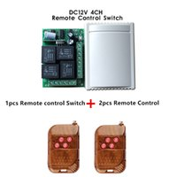 Wholesale 433 mhz transmitter module - Wholesale- 433Mhz Universal Wireless Remote Control Switch DC12V 4CH relay Receiver Module and 5pcs 4 channel RF Remote 433 Mhz Transmitter