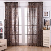 Wholesale Bedroom living Room Semi shade Curtains m European Cotton and linen Pattern Embroidered screens Curtains