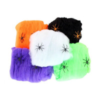 Wholesale Party Scene - Funny Stretchable Plastic Fake Spider Web Trick Party Decoration Haunted House Scene Props Halloween Decor ZA1877