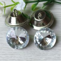 Wholesale Sew Buttons 25mm - Clear 20MM 25MM 30MM Satellite Crystal Glass Buttons Sofa Buttonss Sewing Button Upholstery Buttons Shinning XL-A74
