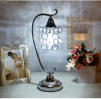 Wholesale Mediterranean Decorating Styles - Modern simple table lamp crystal living room decorated with European style creative birthday gift items wedding room bedroom