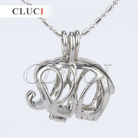Wholesale Top Pendants - Top Sale silver plated Elephant shape 5pcs cage pendant 21*11*24mm