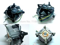 Wholesale- Nuovo rame Base cpu fan cooler suit 775 1156 radiatore 4 pin fan