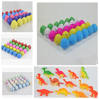 Wholesale Inflatable Novelty Gifts - dinosaur eggs Toys Novelty Growing Hatching in water Inflatable Magic Dinosaur Eggs Educational Toys Christmas Gifts 30pcs   1lot KKA3026