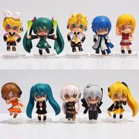 Wholesale Nendoroid Pvc Figure - 3Styles Optional 6cm Hatsune Miku Toy Figure Miku PVC Nendoroid Petit Vocaloid Figure 10pcs set or 5Pcs set Free Shipping