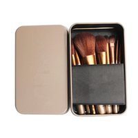 Wholesale Cosmetic Tins Wholesale - HOT SALE New arrival 12pcs professional cosmetic makeup brushes with Tin Box