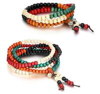 ingrosso legno di sandalo rosso mala-108 * 6mm Genuine Sandalwood Red Beads Buddha Malas Bracciale Gioielli Sano Man Wrist Mala Bracciali Braccialetto Lungo Religione Regalo Spedizione Gratuita