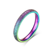 Wholesale dull polished rings resale online - Stainless Steel Rings for Women Gifts Brand Jewelry New Arrival Dull Polish Colours Simple Wedding Rings