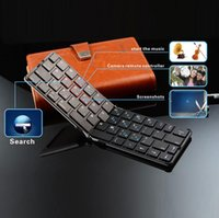 Wholesale Ios Only - high quality Bluetooth wireless foldable Keyboard, Mini Aluminum Foldable Bluetooth Keyboard For iOS Android Windows with high quality
