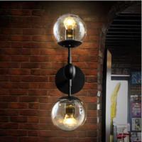Wholesale Modo Light - Modern modo Magie Glass Ball Wall Lamp Vintage Wall Light Bedroom Bedside Wall Socnces Light Fixtures Home Decorative Luminaire