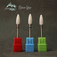 Wholesale Electric Nail File Accessories - River lake Ceramic Nail Drill Bit For electric manicure machine accessories Nail Art Tools Electric Manicure Cutter Nail Files