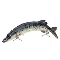 Кустарниковая щука Цены-20cm 66g 8-segement Multi-jointed Pike Carp Fishing Lure Swimbait Crankbait Pesca Hard Bait Fish Treble Hook Fishing Sackle