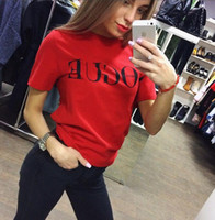 Wholesale Polyester Web - The 2017 summer dress Europe and the United States web celebrity letters printed t-shirts with short sleeves
